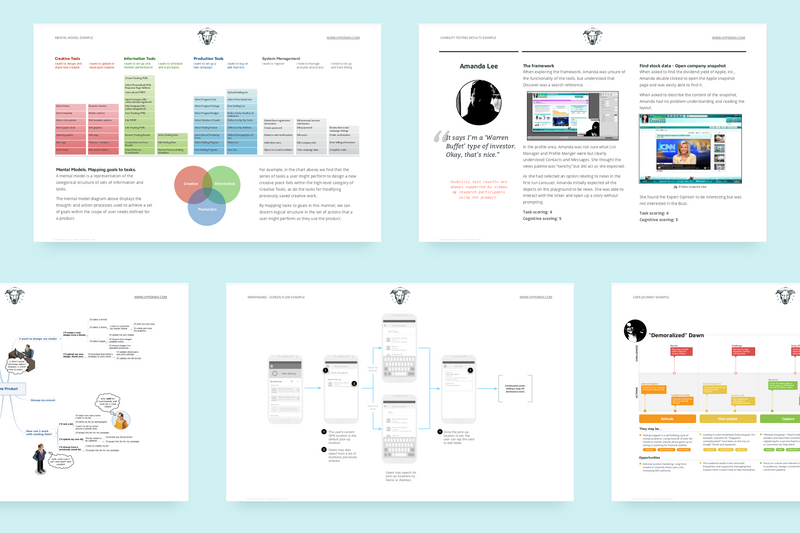 Examples of UX deliverables